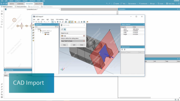 New CAD Import tool available in Simcenter Amesim Student Edition