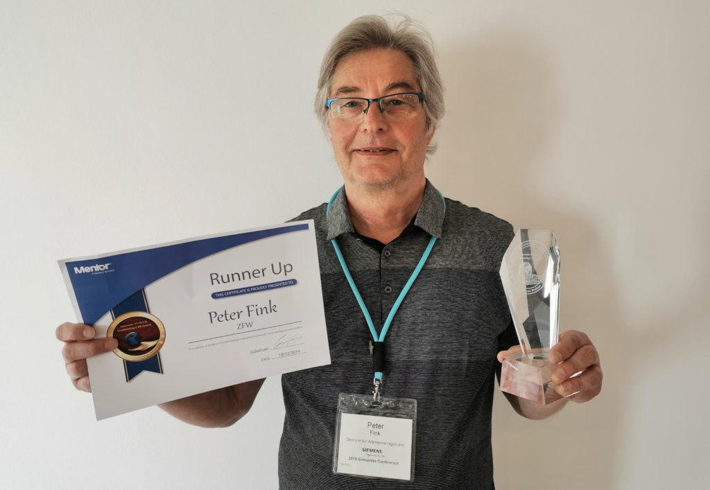 Simcenter FLOEFD Frontloading CFD Award runner-up - Peter Fink