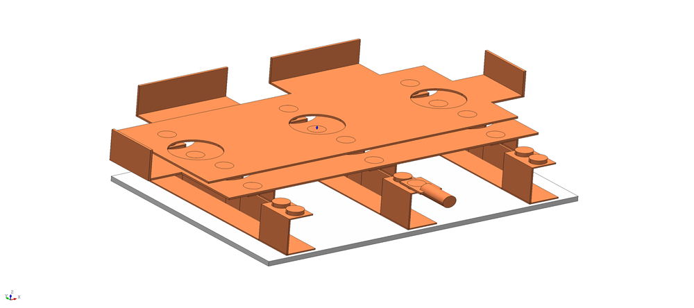 An example of a 3D bus bar structure used with an IGBT
