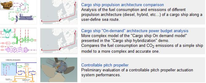 Example of new marine demos in Simcenter Amesim 2020.1