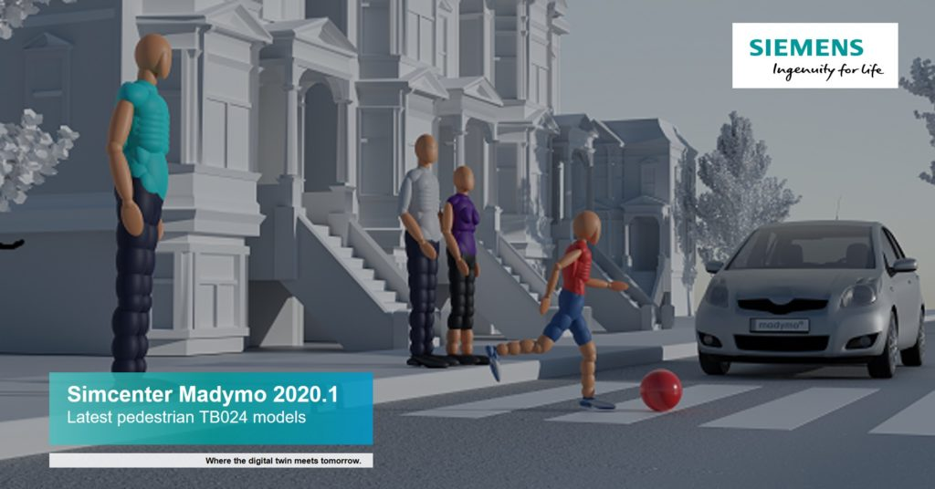 Simcenter Madymo 2020.1 improving pedestrian safety systems