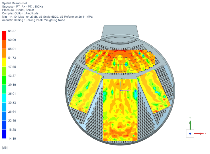 Acoustic Simulation of a Concert Hall - Top View