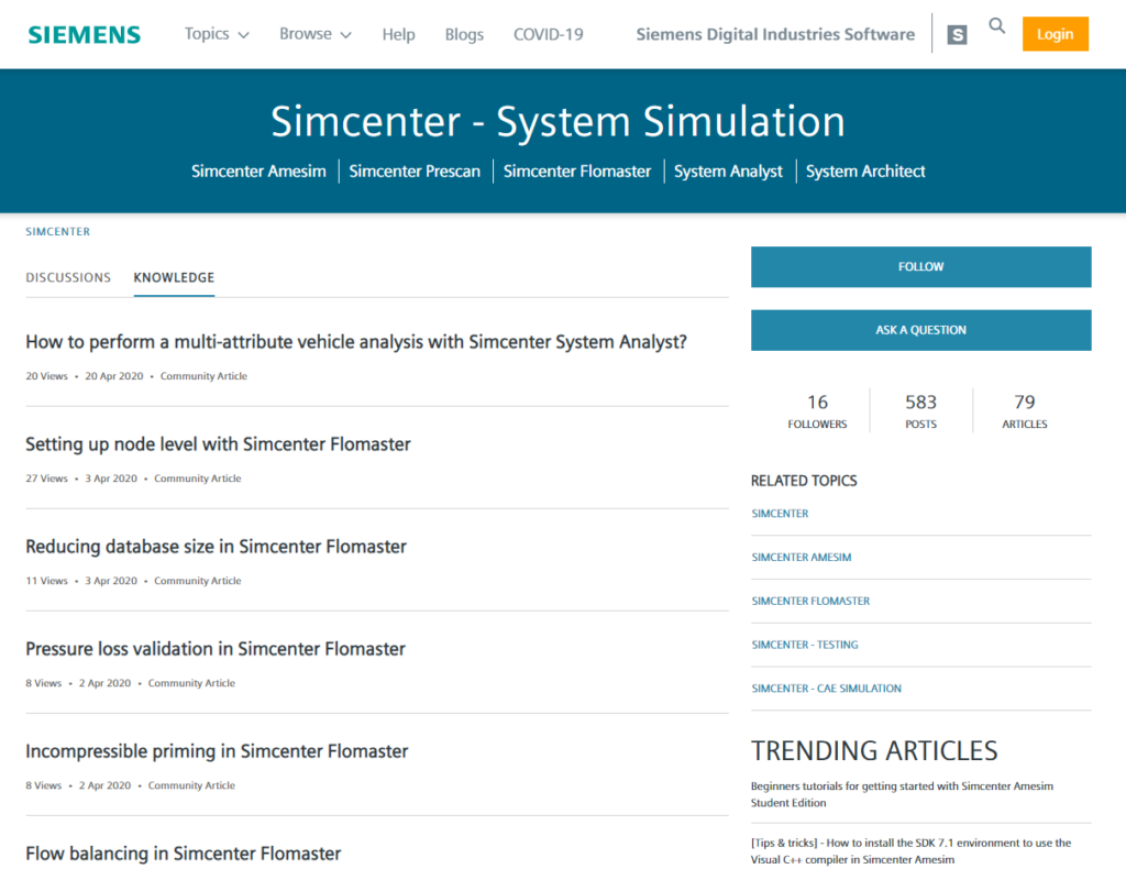Simcenter system simulation knowledge base