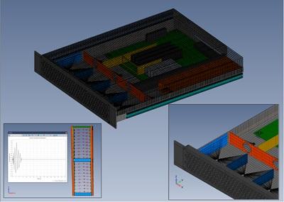 Digital simulation of rack and server