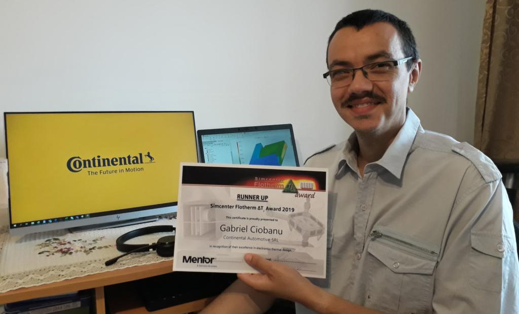 Simcenter Flotherm ΔTJ Award - Runner-up