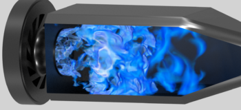Combustion CFD simulation for Siemens's SGT-100 gas turbine using adaptive mesh re