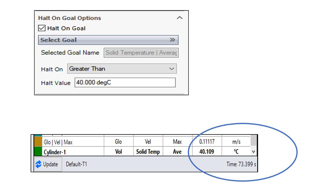 Halt Transient Simulation on Goal - Simcenter Flotherm XT