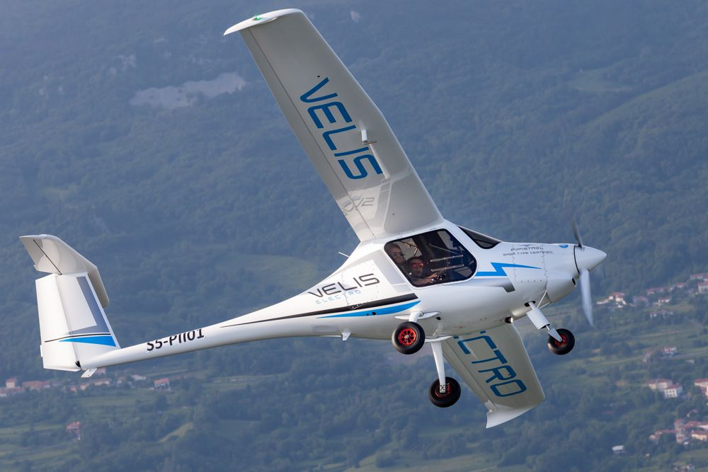 This next-generation electric propulsion aircraft is the Pipistrel Velis Electro.