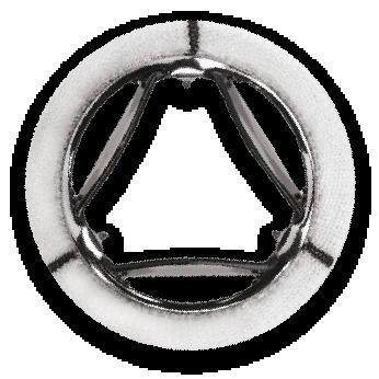 A trileaflet heart valve (Source: https://www.novostia.com/patient-benefits)