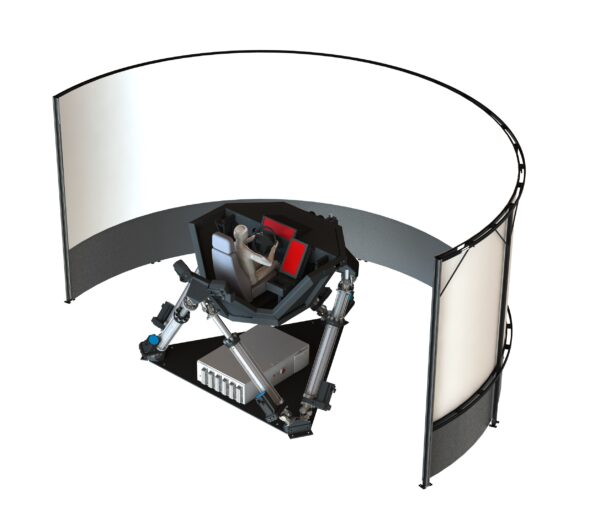 The Cruden motion platform and projection system.