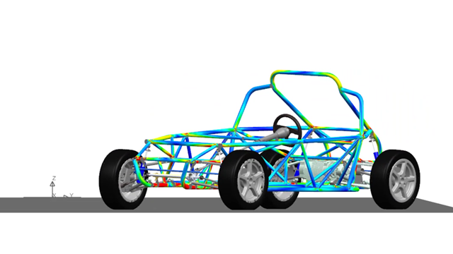 Durability loads simulation on the Simrod electric car