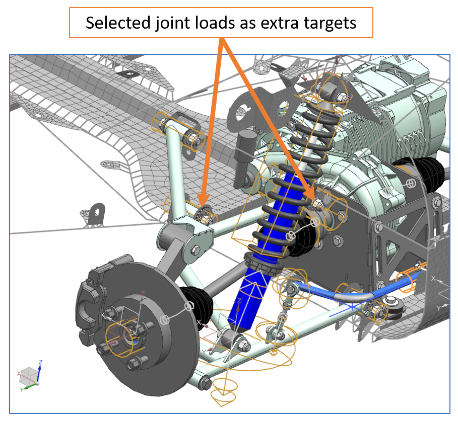 Detailed view of suspension.