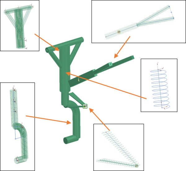 Nose landing gear cantilevered topology