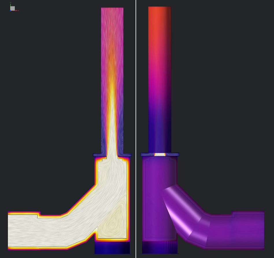 CFD for design and optimization.  Optimized stack concluding image