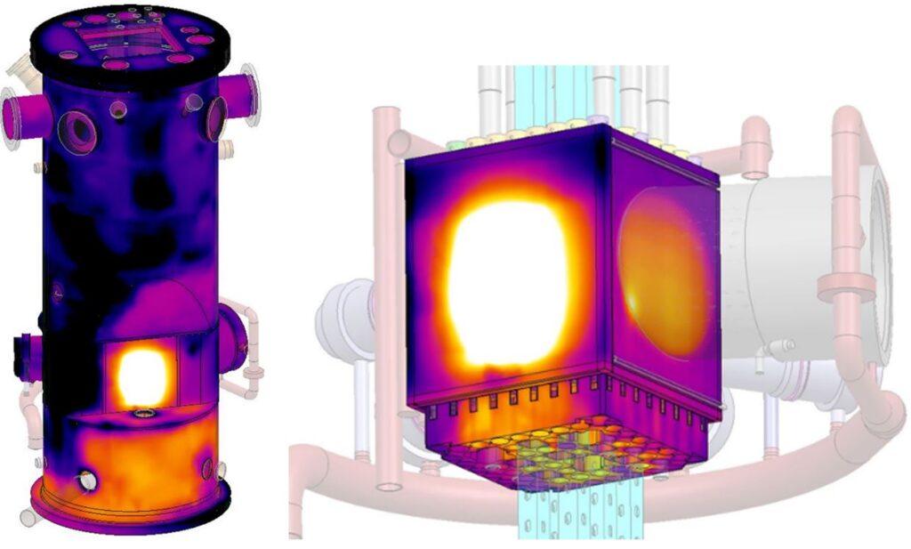 Reactor temperature distribution