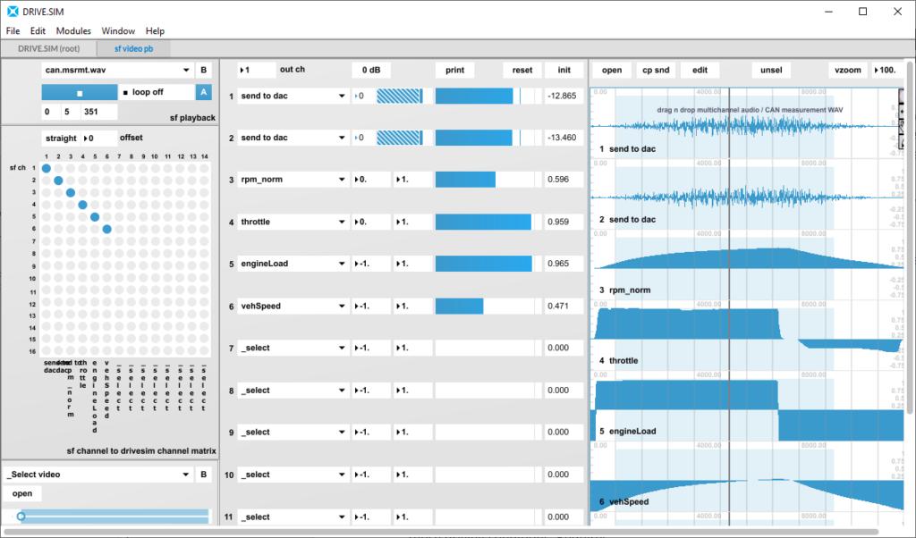 Simcenter Testlab Sound Designer - DRIVE.SIM module for replay prerecorded drive profile