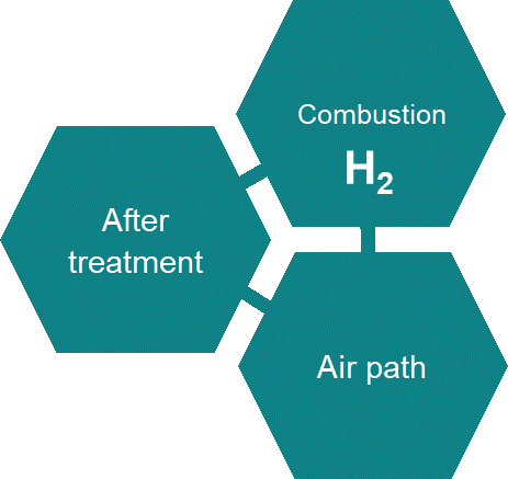 Hydrogen combustion path