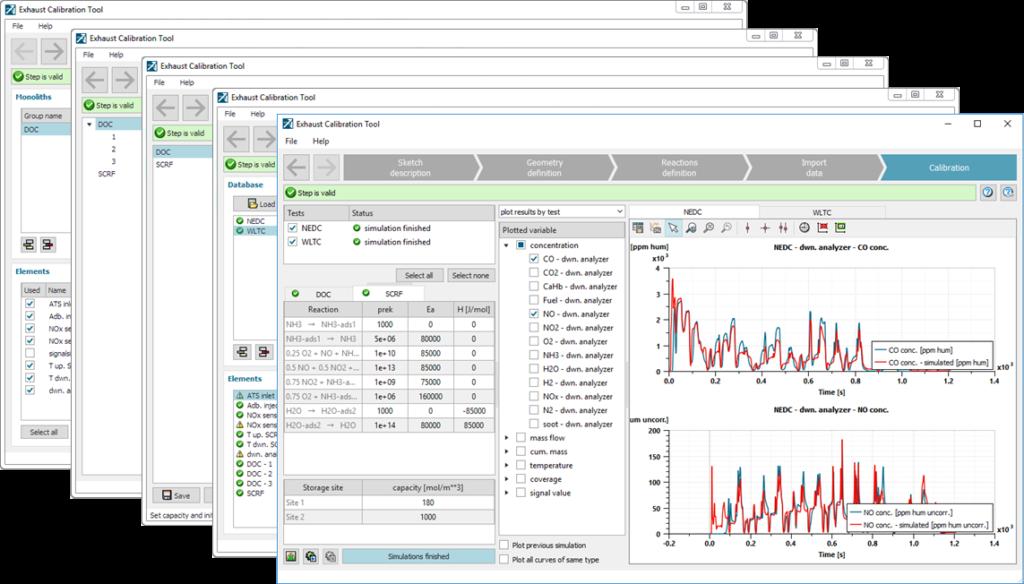 Simcenter Amesim Exhaust calibration tool