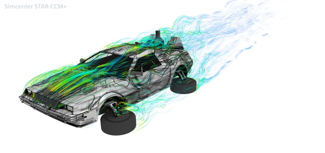 Delorean aerodynamics - A Back to the Future tribute