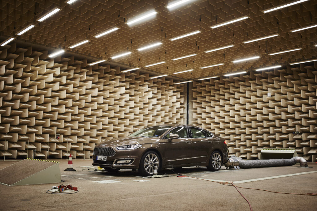 The Ford Vignale in a semi-anechoic chamber