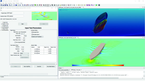 hull performance workflow, a marine CFD tool