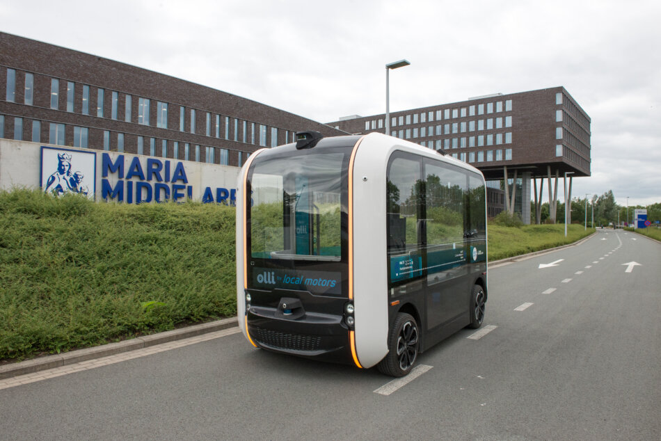 A self-driving bus in Ghent
