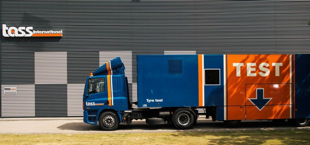 Siemens Tire Test Truck for on-road tire testing