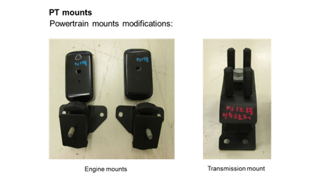 Image of chassis and powertrain spare parts variants