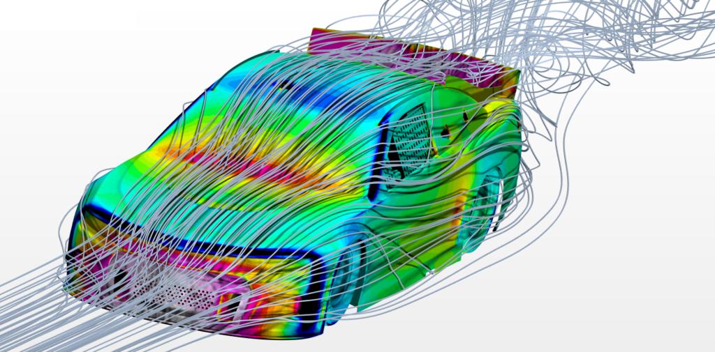 Simcenter simulation of Hendrick Motorsports NASCAR