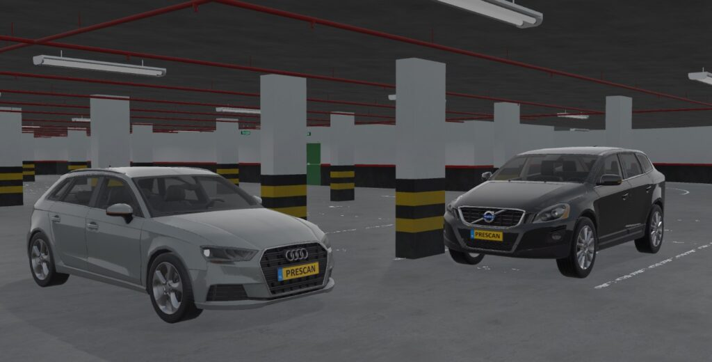 New vehicle models in a new environment in Simcenter Prescan