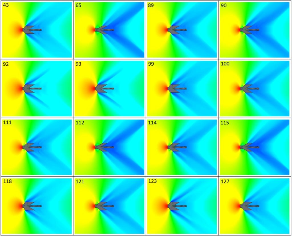Pressure field of optimal designs