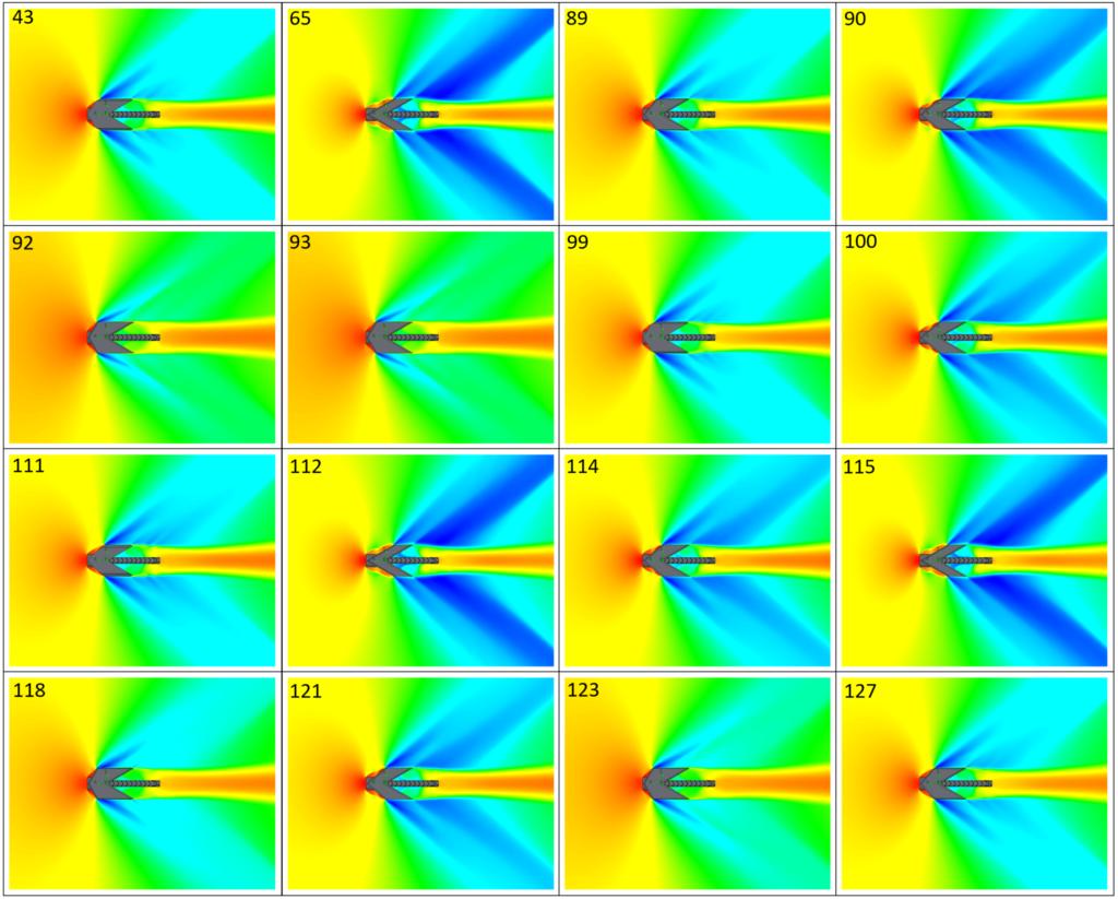 Temperature field of optimal designs