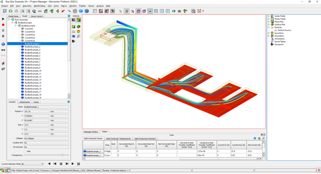 Simcenter Flotherm Joule Heating Analysis of a Bus Bar