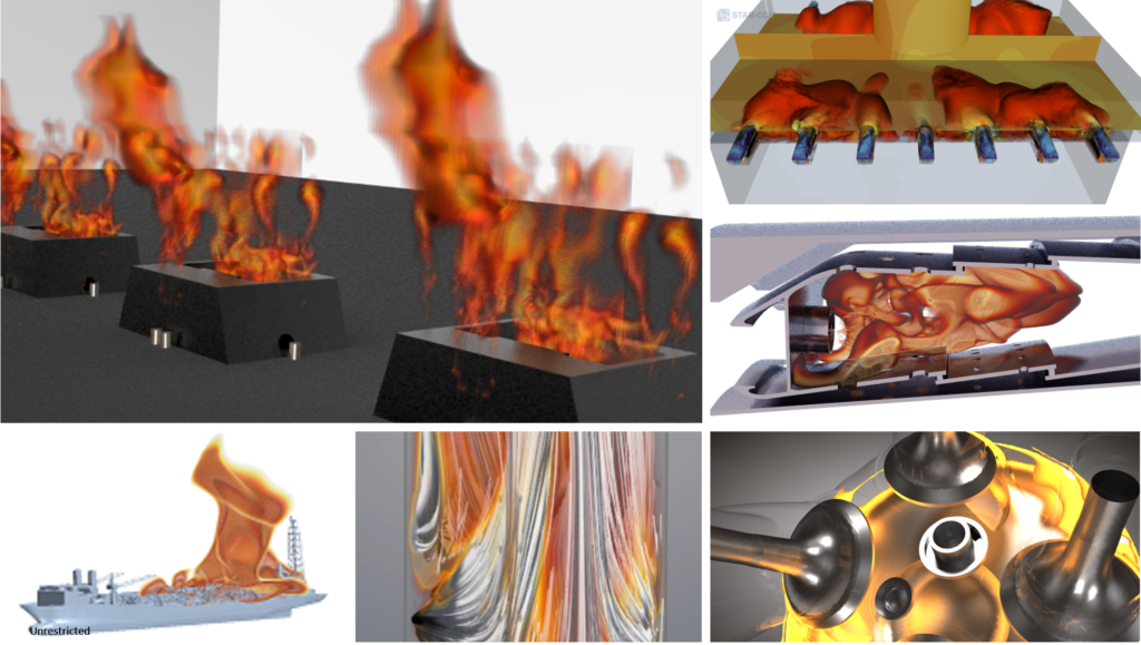 A selection of combustion applications covered by Simcenter STAR-CCM+