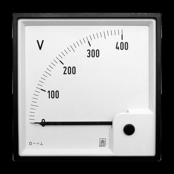 Image shows an analog DC Voltage sensor