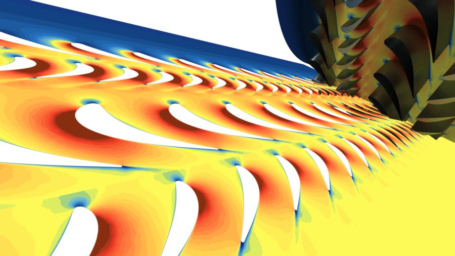 Gas Turbine CFD requires sophisticated data vizualization