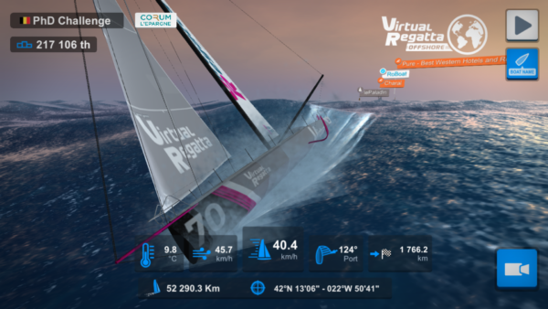 Over 1 million people raced along virtually in the Virtual Vendée Globe.