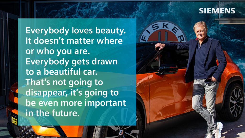 Henrik Fisker CEO of Fisker inc. leaning on a Fisker car