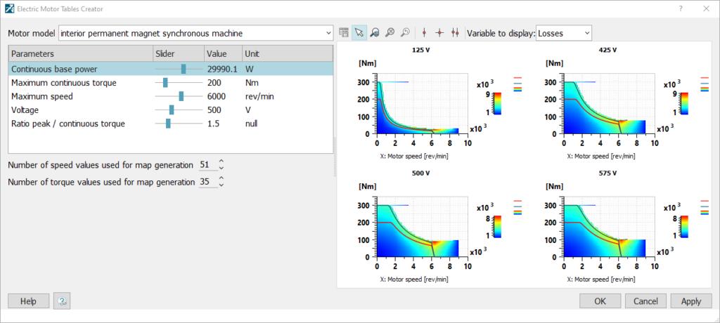 e-motor parameters