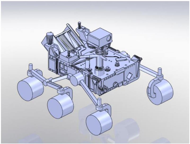 CAD model of Perseverance rover
