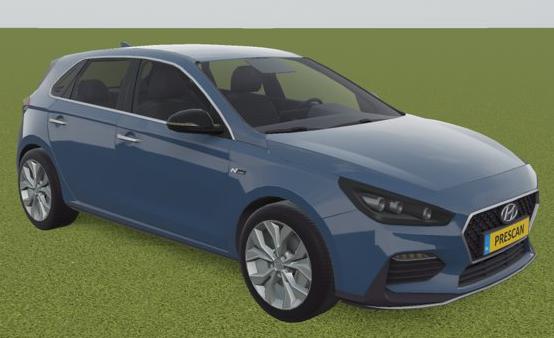 New model in Prescan: Hyundai i30.