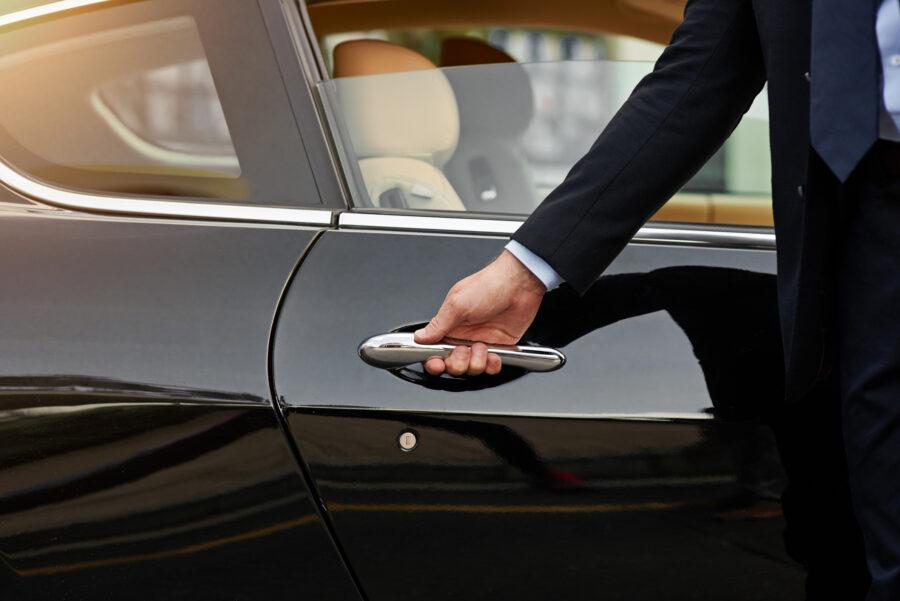 Chauffeur opening care door