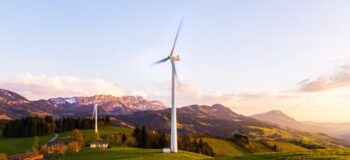 Sustainability - wind turbine on field