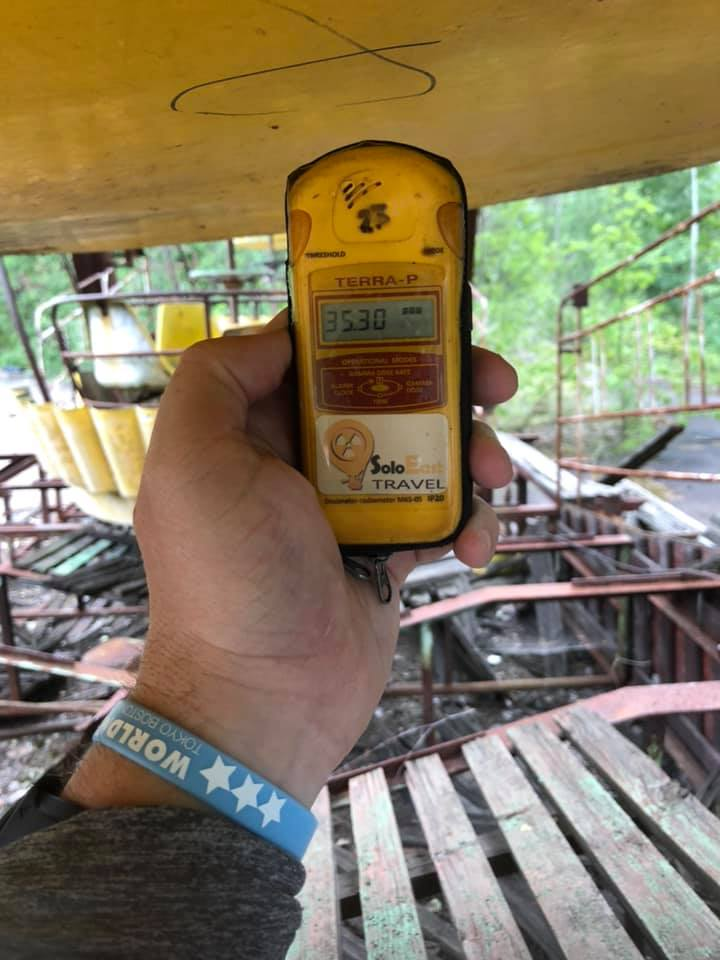 Radioactive Ferris Wheel Carriages in Chernobyl