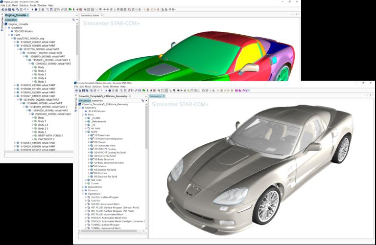 Handling complex CAD assemblies to prepare vehicle aerodynamics CFD simulations