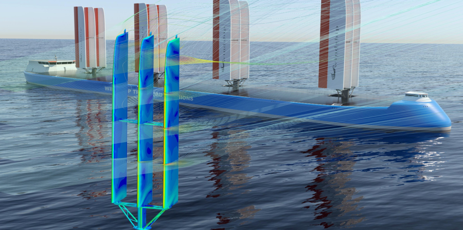 Cape Horn Windship sails CFD simulation