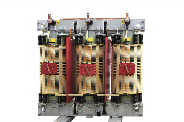 Three-limb core and windings of a 3-phase transformer