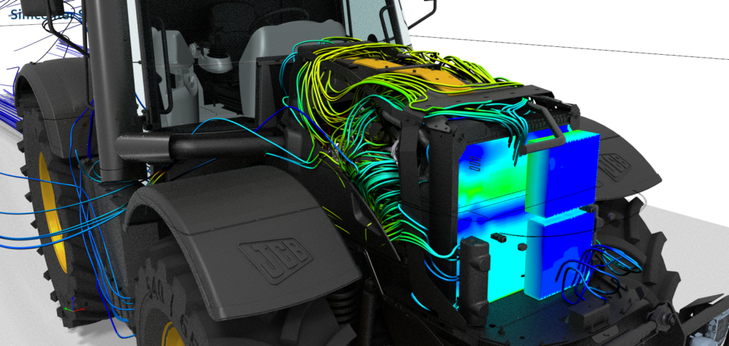 CFD simulation for thermal management optimization