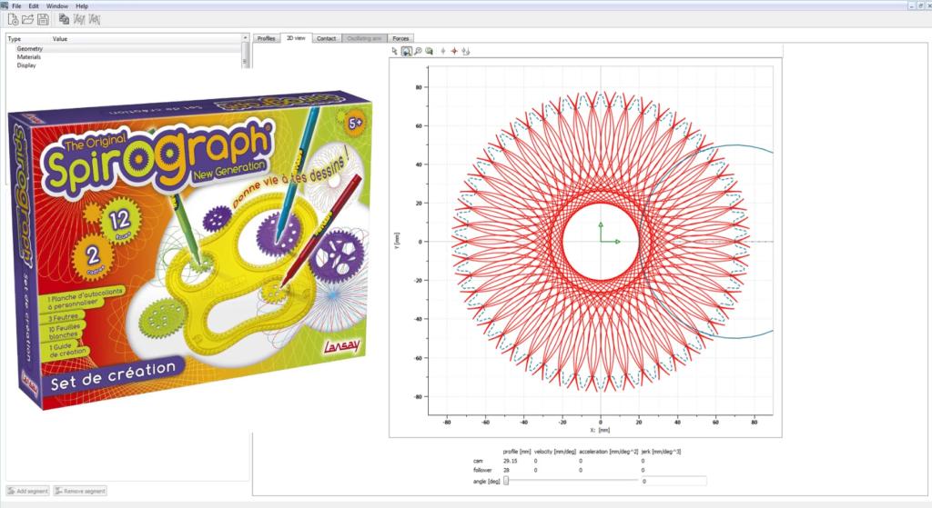 Spirograph System simulation mode