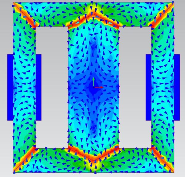 Magnetostriction force density field in Simcenter MAGNET